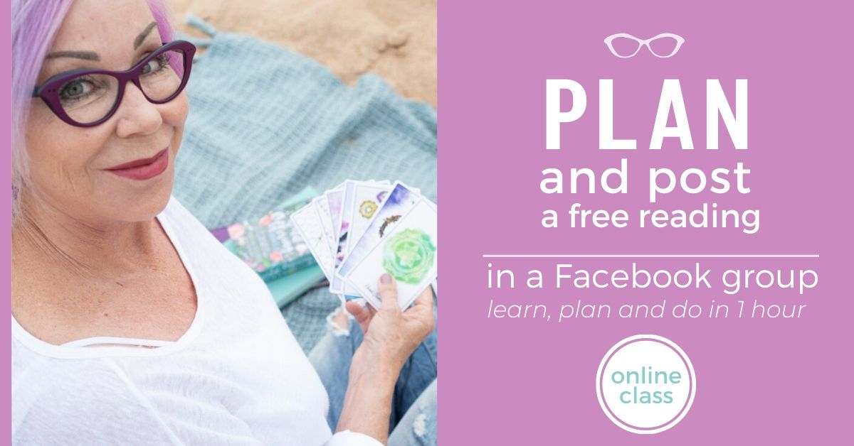 plan and post a free reading in a facebook group in one hour